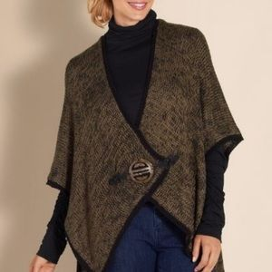 Soft Surroundings Mei Ling Cape Sweater Poncho OS
